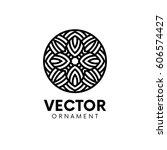 abstract circle logo emblem... | Shutterstock .eps vector #606574427