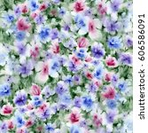 watercolor painting. spring... | Shutterstock . vector #606586091
