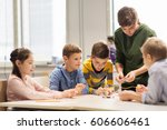 education  children  technology ... | Shutterstock . vector #606606461