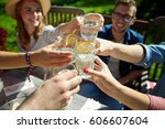 leisure  holidays  eating ... | Shutterstock . vector #606607604