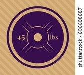 vector illustration of weight... | Shutterstock .eps vector #606608687