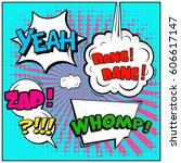 abstract creative concept comic ... | Shutterstock .eps vector #606617147