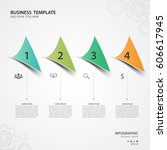 infographic templates for... | Shutterstock .eps vector #606617945