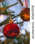 Christmas tree ornaments - stock photo