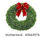 Christmas wreath - stock photo