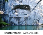 the dying lion of lucerne... | Shutterstock . vector #606641681
