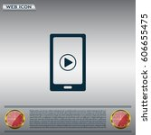 video on mobile devices. eps10... | Shutterstock .eps vector #606655475