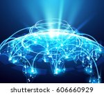 abstract of world network ... | Shutterstock .eps vector #606660929