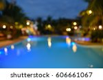 Twillight Swimming Pool Defocus