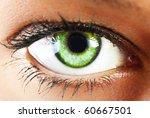 Girl's Green Eye Close Up
