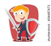 Super Businessman With Sword...