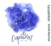 astrology sign capricorn on...   Shutterstock .eps vector #606689591