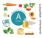 infographics. foods with the... | Shutterstock .eps vector #606695075
