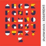 alphabet design style vector... | Shutterstock .eps vector #606698045