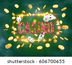 the word casino  surrounded by... | Shutterstock .eps vector #606700655