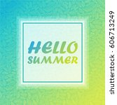 hello summer banner and pattern ... | Shutterstock .eps vector #606713249