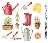 watercolor illustrations of...   Shutterstock . vector #606719444