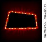retro showtime 1950s sign... | Shutterstock .eps vector #606732344