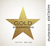 luxury gold star badge. golden... | Shutterstock .eps vector #606736544