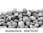 A Pile Of Pebbles Isolated On ...