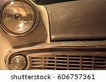 vintage car details | Shutterstock . vector #606757361