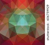 polygonal vector background. ... | Shutterstock .eps vector #606759929