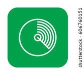 radar flat line icon  linear...   Shutterstock .eps vector #606760151