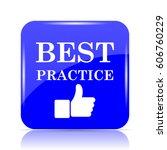 best practice icon  blue... | Shutterstock . vector #606760229