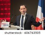 paris  france   february 5 ... | Shutterstock . vector #606763505