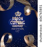 royal design banner with gold... | Shutterstock .eps vector #606765851