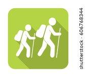 hiking icon illustration... | Shutterstock .eps vector #606768344