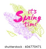 it s spring time vector...