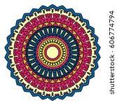 mandala. vector ethnic oriental ...   Shutterstock .eps vector #606774794