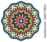 mandala. vector ethnic oriental ... | Shutterstock .eps vector #606774821