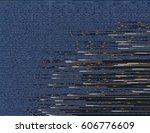 modern glitched background... | Shutterstock .eps vector #606776609