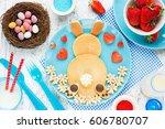 Easter Bunny Breakfast Pancake...