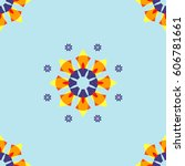 small orange flora small... | Shutterstock .eps vector #606781661