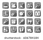 beauty and health  icons  grey  ... | Shutterstock .eps vector #606784184