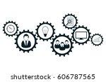 business mechanism concept.... | Shutterstock .eps vector #606787565