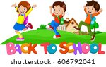 Back To School   Happy Kids...