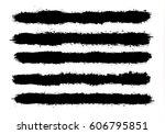 abstract black paint splashes... | Shutterstock .eps vector #606795851