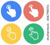 touch vector icons set.... | Shutterstock .eps vector #606798551
