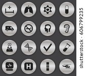 set of 16 editable clinic icons....