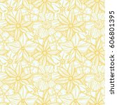 hand drawn pattern with... | Shutterstock .eps vector #606801395