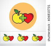 line icon  health | Shutterstock .eps vector #606810731