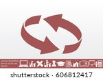 rotation arrows icon vector... | Shutterstock .eps vector #606812417