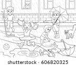 kids coloring vector children... | Shutterstock .eps vector #606820325