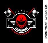 racing badges. themed logos ... | Shutterstock .eps vector #606821135