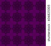 vector seamless pattern. modern ... | Shutterstock .eps vector #606825305