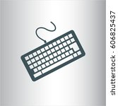 vector illustration of keyboard ... | Shutterstock .eps vector #606825437